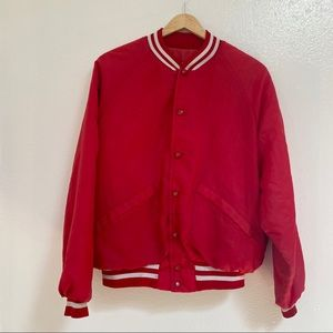 Vintage 70s 80s Red King Louie Snap Jacket